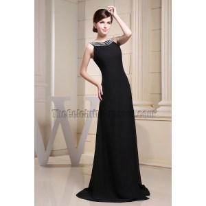 Modern Beading Black Evening Dresses Knee Length Black Evening Dresses Ebay Beading Black Evening Dress Prom Formal Dresses Black Evening Dress Prom Formal Dresses
