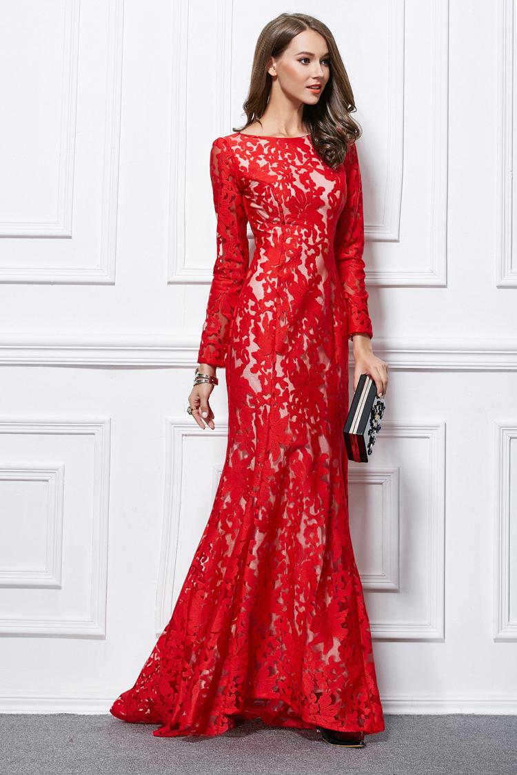 Fullsize Of Long Red Dress