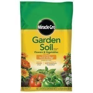 Home depot miracle gro gardening soil per bag for Soil home depot