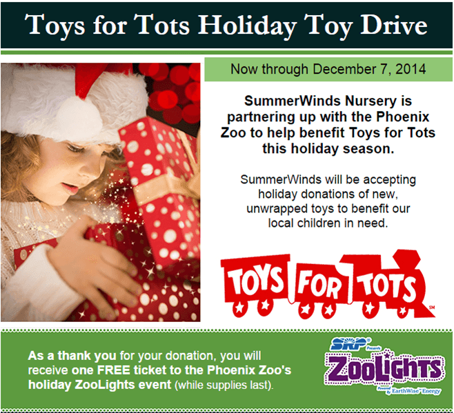 Toys For Tots Introduction : Toys for holiday toy drive free zoolights ticket