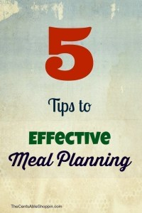 Effective Meal Planning