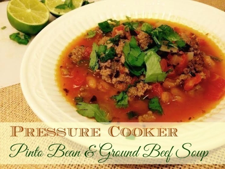 Pressure Cooker Pinto Bean & Ground Beef Soup Recipe | The CentsAble ...