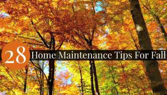 28 Home Maintenance Tips for Fall