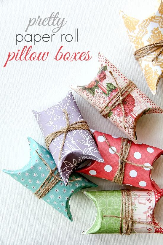 DIY Pretty Paper Roll Pillow Boxes