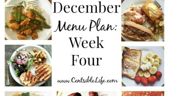 December Menu Plan: Week Four