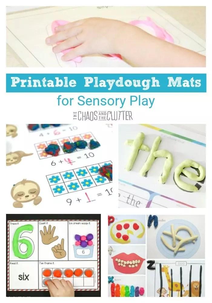 Printable Playdough Mats for Sensory Play
