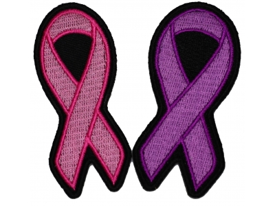 Purple Ribbon Patch For Breast Cancer Survivors Support Ribbons