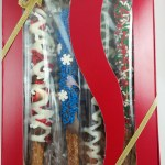 chocolate pretzels, gift