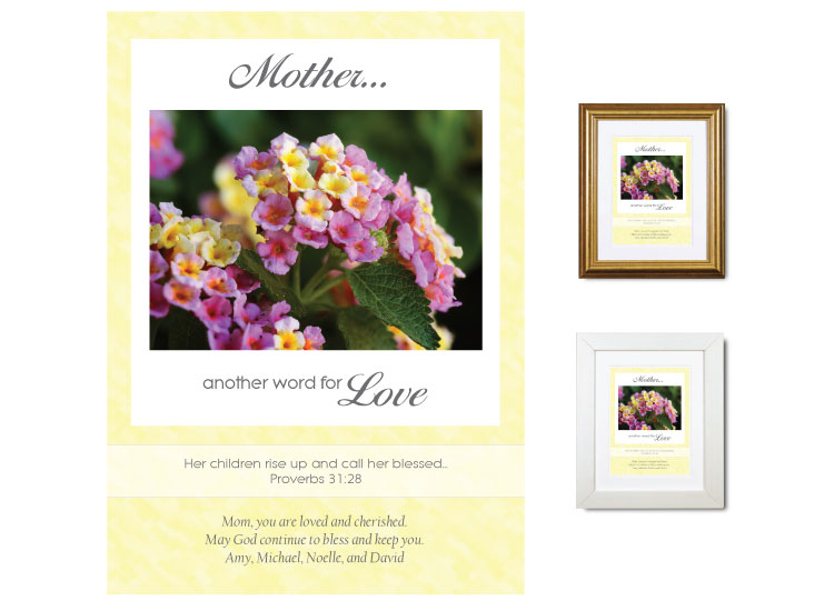 Gift for Mother - Another Word for Love (Lantana) Gift for Mother