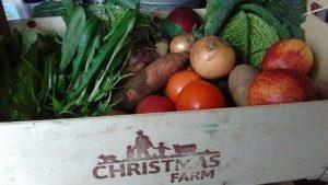 Christmas Farm organic vegetable box