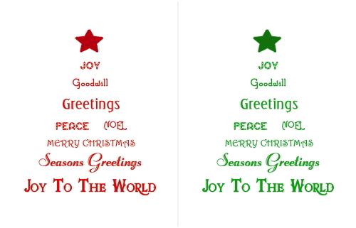 Christmas Printables - Christmas Tree Farm - christmas tree words