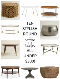 Affordable Round Coffee Tables - The Chronicles of Home