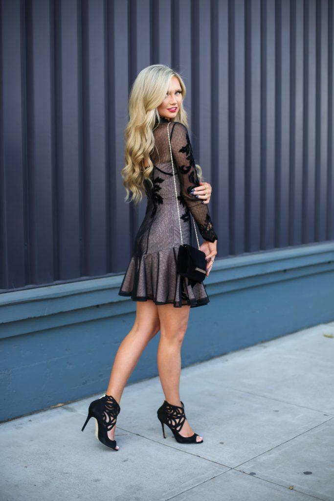 Stephanie-Danielle-TheCityBlonde-Black-Lace-Dress-6596