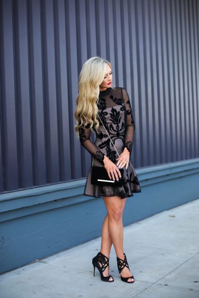 Stephanie-Danielle-TheCityBlonde-Black-Lace-Dress-6637