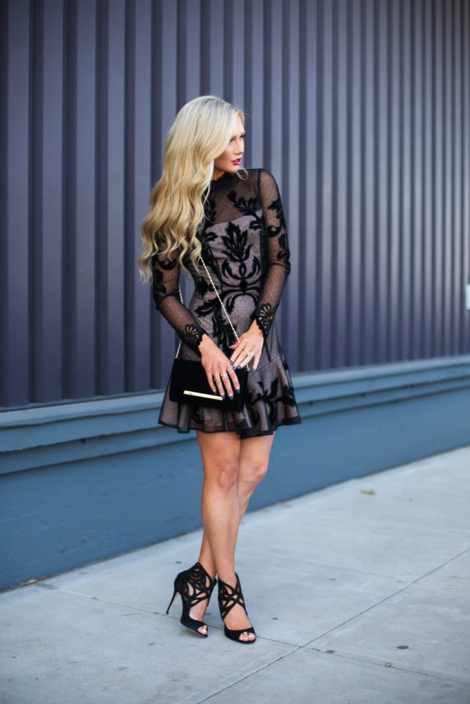 Stephanie-Danielle-TheCityBlonde-Black-Lace-Dress-6638