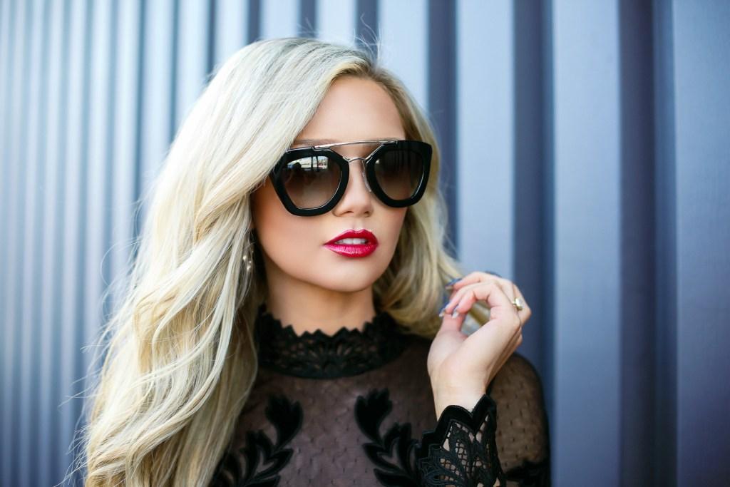 Stephanie-Danielle-TheCityBlonde-Black-Lace-Dress-6735