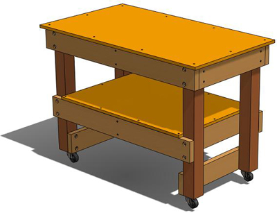 How To Build A Simple Workbench, Workshop Tool Plans, Download