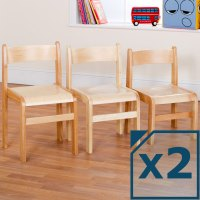 Tuf Class Wooden Chair Natural (Pack of 2)