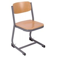 Form Cantilever Wooden Classroom Chair