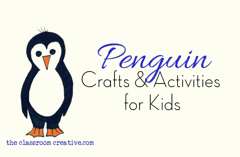 Penguin Crafts and Activity Ideas - penguin template
