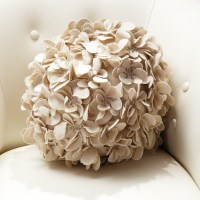Global Views Komaki Ball Pillow Ivory