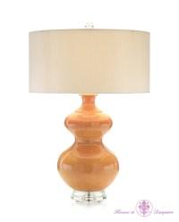 John Richard Persimmon Gourd Table Lamp