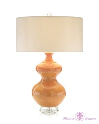 John Richard Persimmon Gourd Table Lamp