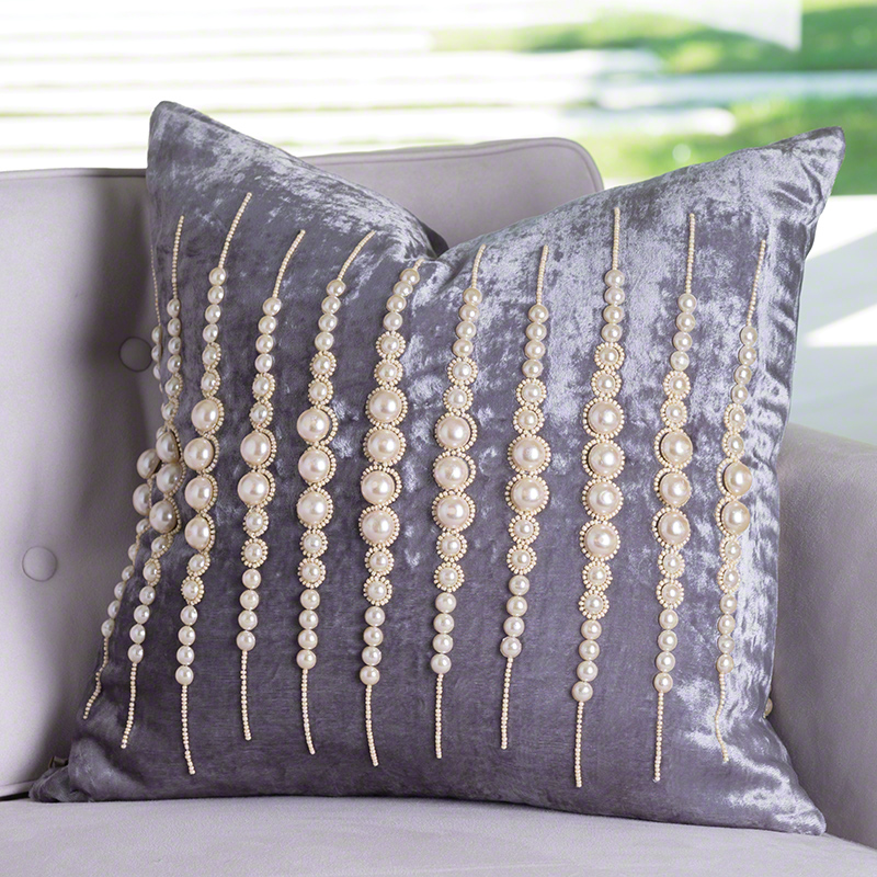 Global Views Strands Of Pearls Pillow