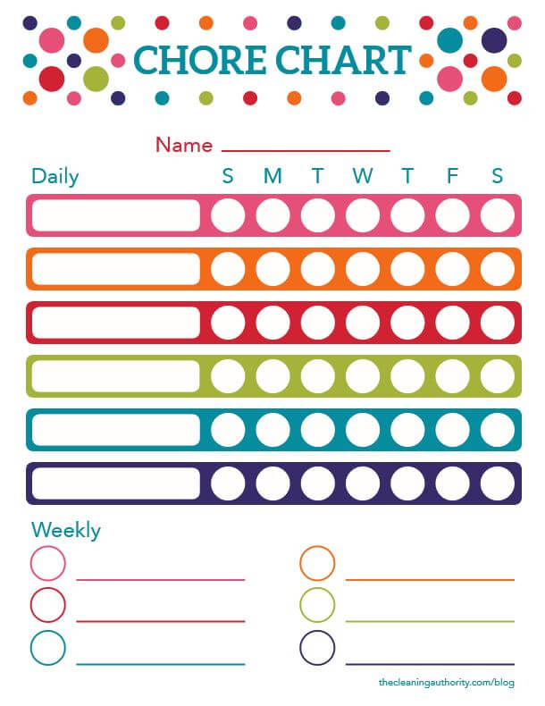 Free Printable Summer Chore Chart - chore chart online