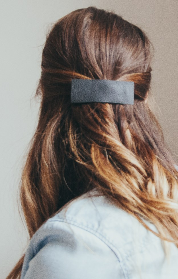 Leather Barrette-1