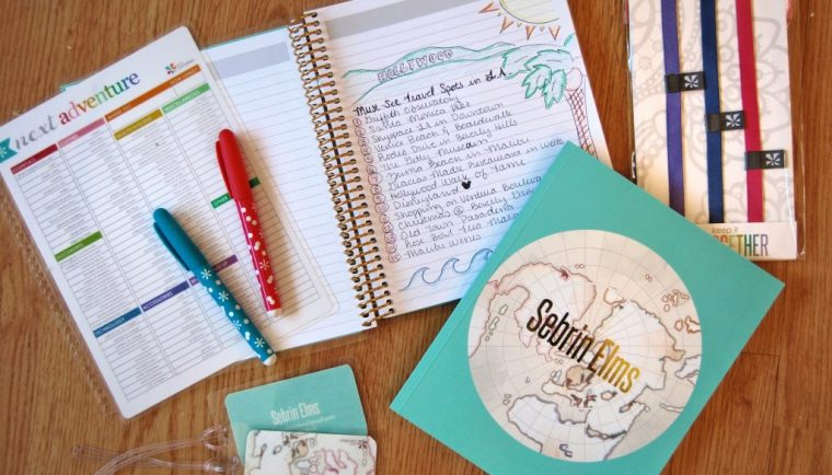 4 Stylish Hacks to Stay Organized While Traveling featuring Erin Condren lifeplanner and journal travel goodies