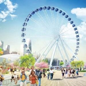 Esta ilustración muestra como lucirá la nueva rueda en 2016. Ilustración: Navy Pier