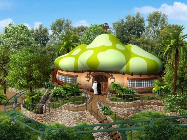 Smurf Village Express es una montaña rusa ideal para que los pequeños vivan la adrenalina por primera vez. Imagen: MOTIONGATE Dubai