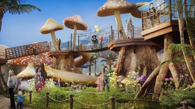 En el Woodland Play Park los pequeños podrán jugar en el mundo de los Pitufos. Imagen: MOTIONGATE Dubai