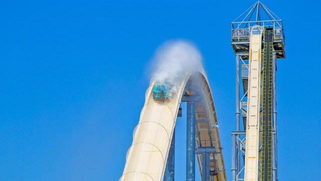 El tobogán con una caída de más de 50 metros contaba con una velocidad de más de 100 km/h. Foto: Schlitterbahn