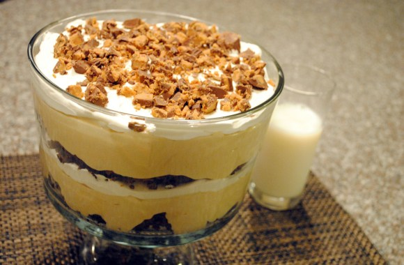 Sinfully Delicious But Actually Kinda Light Chocolate Peanut Butter Trifle