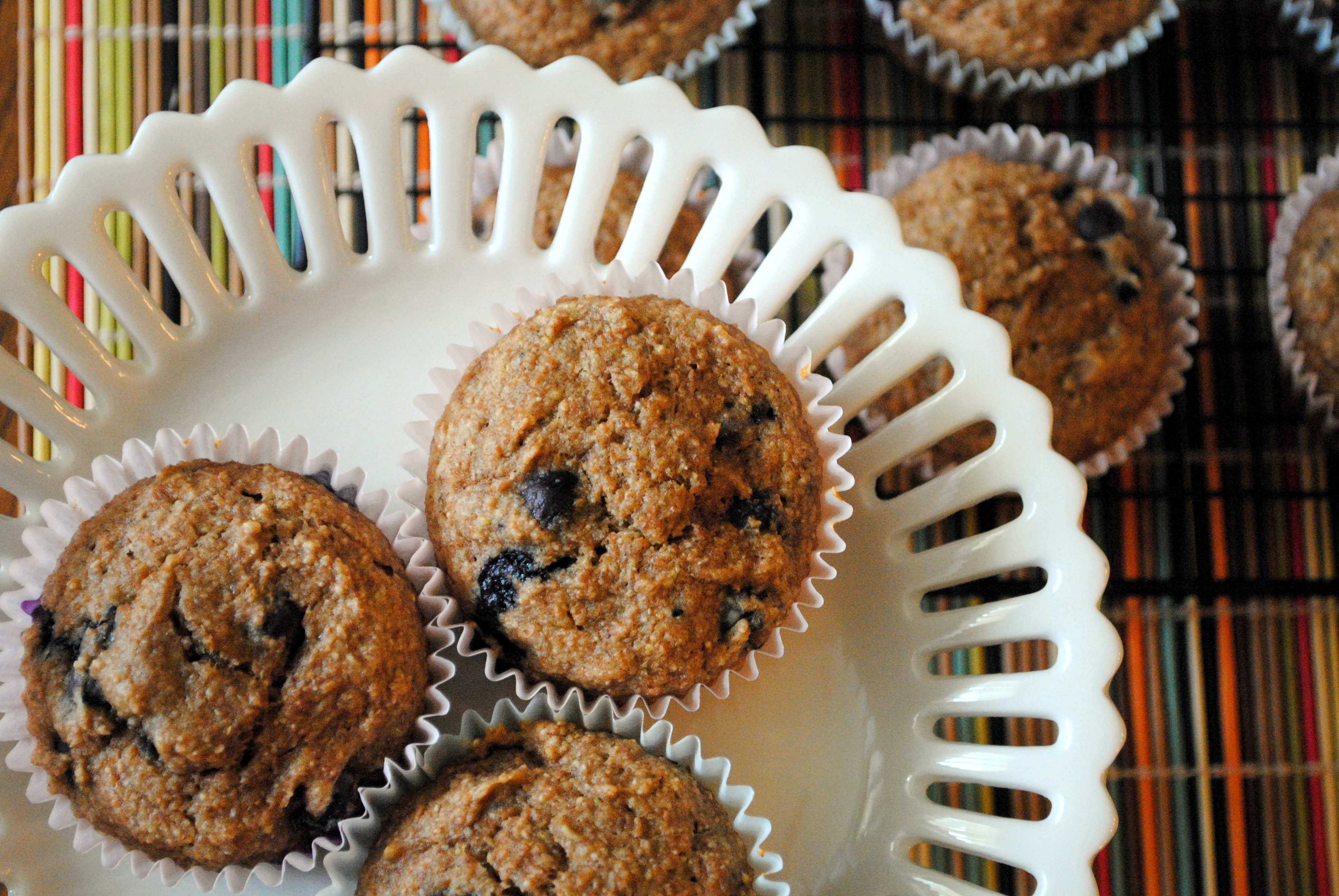 how to make whole wheat blueberry muffins