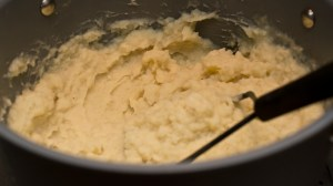 mashed potatoes for Shepherd's Pie