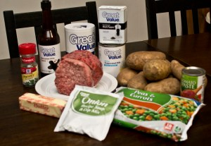 ingredients for Shepherd's Pie
