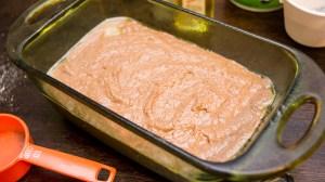 making Chocolate Banana Bread