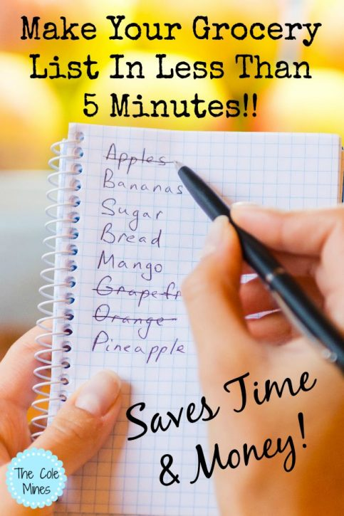 Make Your Grocery List In Less Than 5 Minutes