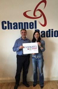 CEO of Demelza Hospice Care for Children Ryan Campbell with Laura Burton-Lawrence