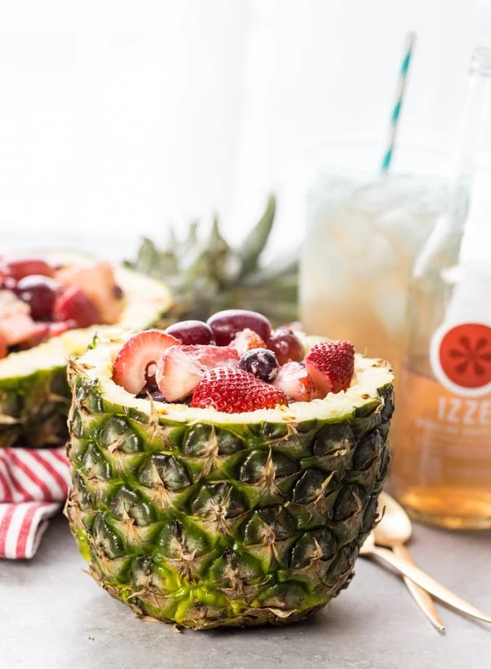Super Easy Fruit Salad in Pineapple Bowls - The Cookie Rookie®