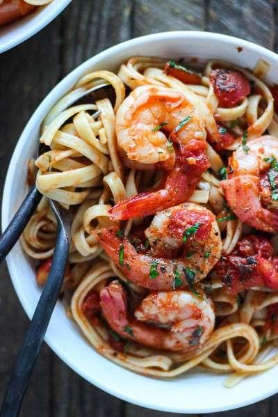 Spicy Shrimp Pasta Diavolo - The Cooking Jar