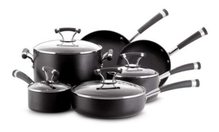 Circulon Contemp hard anodized nonstick 10 piece cookware set