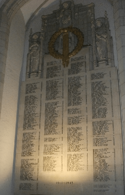 The names of Cornellians who perished in the Second World War--defending the Constitution.