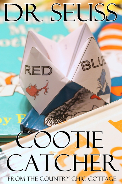 Dr Seuss Activity - Cootie Catcher FREE Printable - The Country Chic