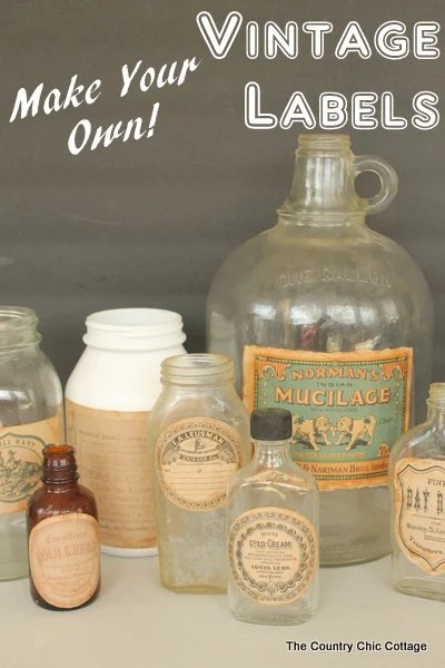 Make Your Own Vintage Labels - The Country Chic Cottage