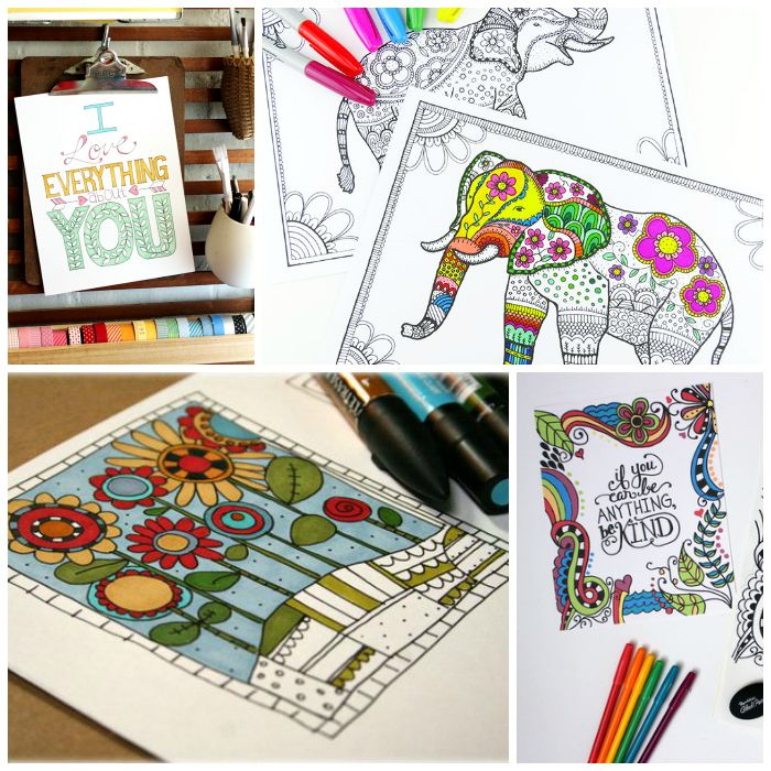 25 FREE Adult Coloring Pages - The Country Chic Cottage - how to get pages for free