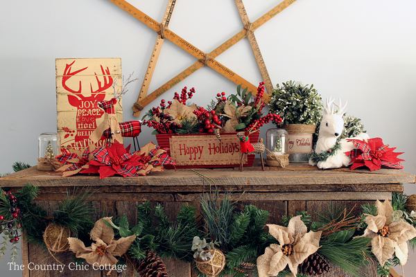 Christmas Mantel Decorating Ideas - The Country Chic Cottage - christmas mantel decor